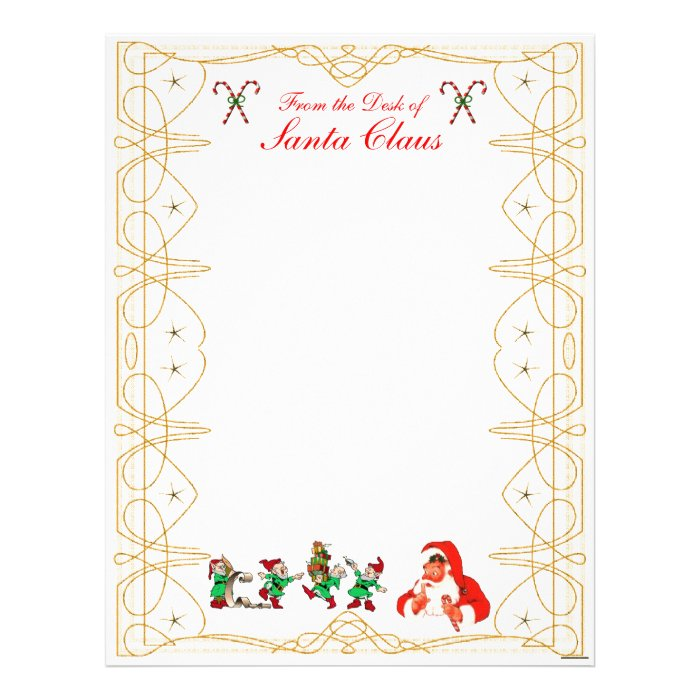 From The Desk Of Santa Claus Letterhead Zazzle