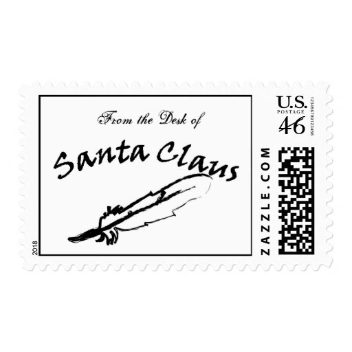From The Desk Of Santa Claus Postage Stamp Zazzle