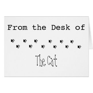 From the Desk of the Cat Card