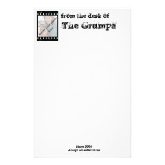 from the desk of , The Grumpa Stationery