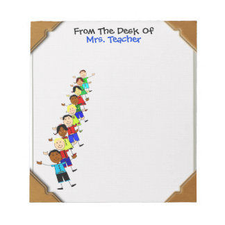 From The Desk Of With Kids Cute Notepad