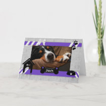 from the Dog | Mother's Day Photo Card | Purple
