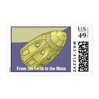From the Earth to the Moon - Jules Verne Postage Stamp