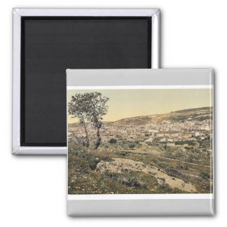From the east, Nazareth, Holy Land, (i.e., Israel) Magnet