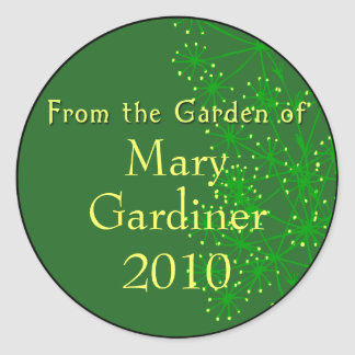 From the Garden of Canning Labels Classic Round Sticker