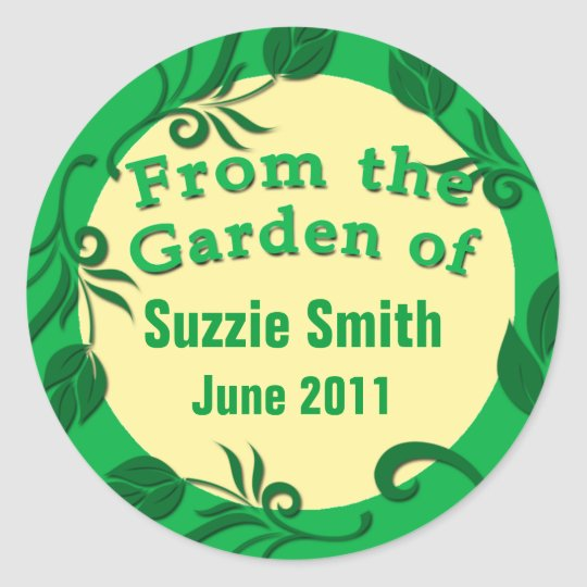From the Garden of Canning Stickers