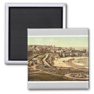 From the gardens, Broadstairs, England vintage Pho 2 Inch Square Magnet