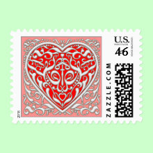 From the Heart - Romantic Postage Stamp