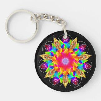 From the Heart/Ripples of Awareness Keychain