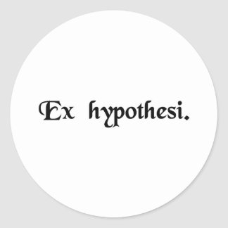 From the hypothesis. classic round sticker