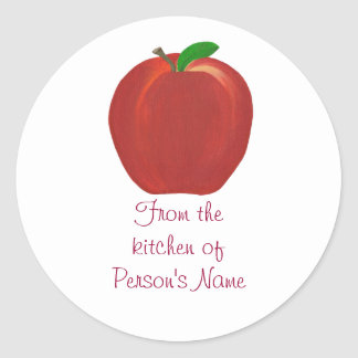 From the kitchen of, Apple Jam Jelly Stickers