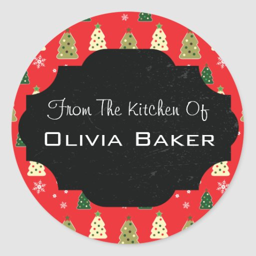 From The Kitchen Of - Baked Goodies Christmas Round Stickers