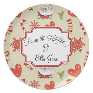 From the Kitchen Of  Christmas Plates