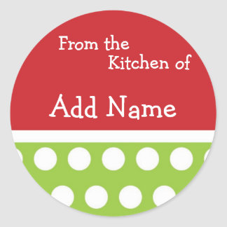"""""""From the Kitchen of"""" Christmas Sticker"""