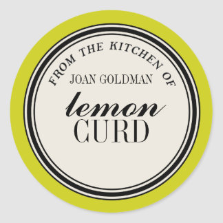 """From the Kitchen of"" Circle Label Template"