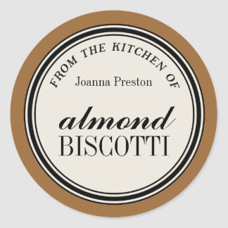 """""""From the Kitchen of"""" Circle Label Template"""