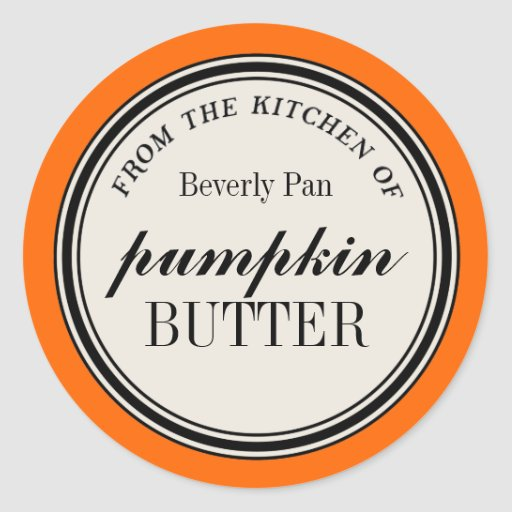 """""""From the Kitchen of"""" Circle Label Template Classic Round Sticker"""