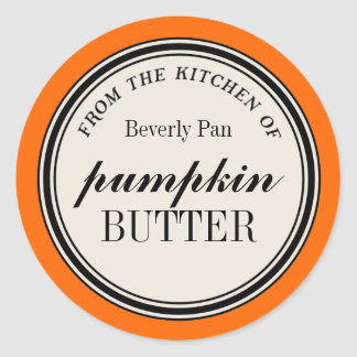 From the Kitchen of Circle Label Template Round Sticker