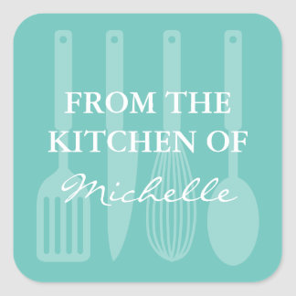 From the kitchen of cooking utensils stickers