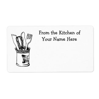 From the Kitchen Of Custom Food Cooking Shipping Label