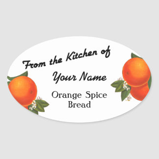 From the Kitchen Of Custom Orange Baking Stickers