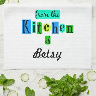 From the Kitchen of Custom Retro Kitchen Towel