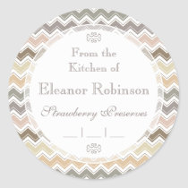 From the Kitchen Of Elegant Homemade Canning Classic Round Sticker