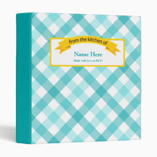 From the Kitchen of Food Label - Teal 3 Ring Binder