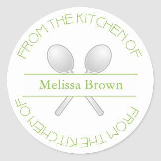 From The Kitchen Of: Green Sticker