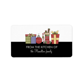 FROM THE KITCHEN OF Holiday Decorations Gift Tags Address Label
