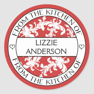 From the Kitchen of Label | Red White Damask