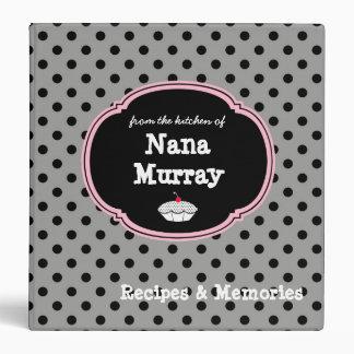 "From the Kitchen of Nana 1.5"" Polka Dot Recipe Binders"