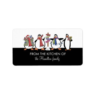 FROM THE KITCHEN OF Penguins Gift Tags Address Label