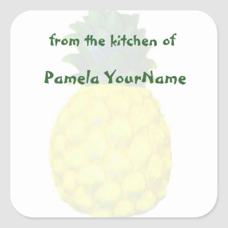 From the Kitchen of Pineapple Square Sticker