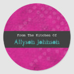 From The Kitchen Of Pink Background Stickers