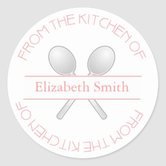 From The Kitchen Of: Pink Stickers sticker