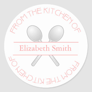 From The Kitchen Of: Pink Stickers