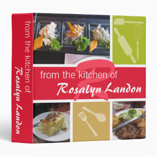 From the kitchen of red custom photo family chef 3 ring binders
