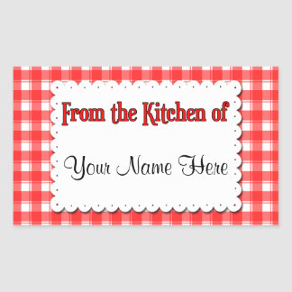 From The Kitchen Of Red White Custom Stickers