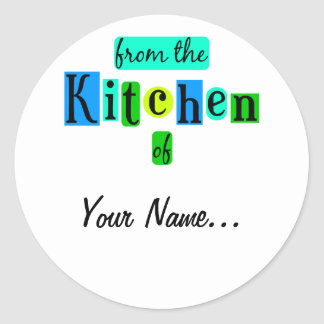 From the Kitchen of Retro Blue Green Stickers