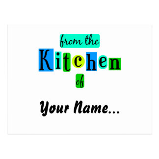 From the Kitchen of Retro Blues Recipe Card