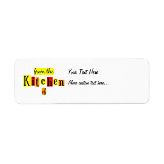 From the Kitchen of Retro Custom Canning Tag Label