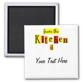 From the Kitchen of Retro Custom Fridge Magnet Refrigerator Magnets