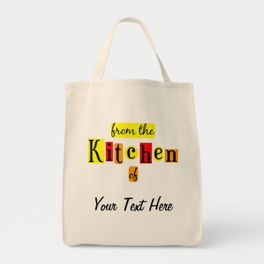 From the Kitchen of Retro Custom Grocery Tote
