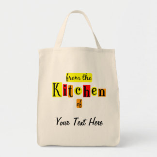 From the Kitchen of Retro Custom Grocery Tote Grocery Tote Bag