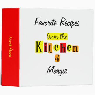 From the Kitchen of Retro Custom Recipe Binder