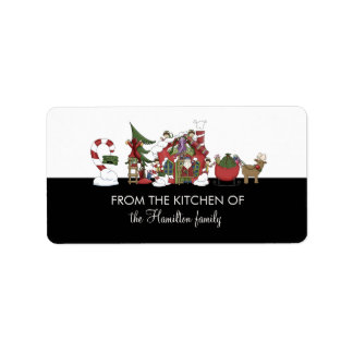 FROM THE KITCHEN OF Santa's Workshop Gift Tags Address Label