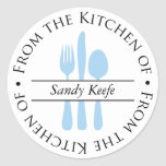 From the Kitchen of - Silverware Classic Round Sticker