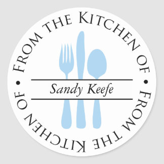 From the Kitchen of - Silverware Stickers