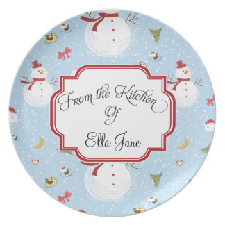 From the Kitchen Of  Snowmen Christmas Plates